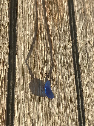 Cobalt Blue Namaste Necklace