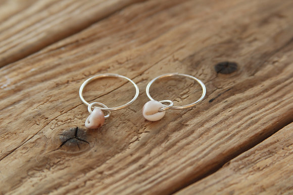 Cowrie Shell Endless Hoops