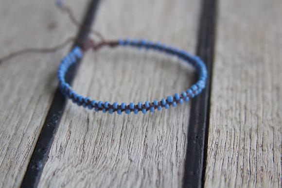 Light Blue Seed Bead Bracelet