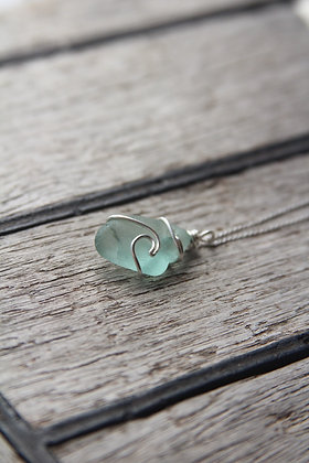 Mint green Signature Wave Necklace