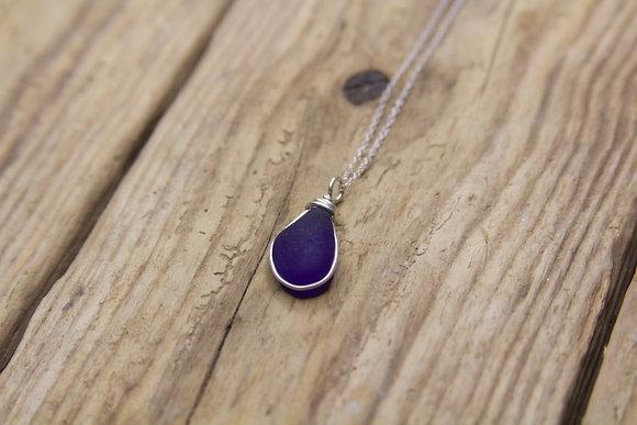 Cobalt Blue Wrap Necklace