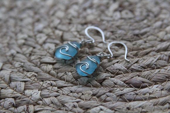 Turquoise Wave Earrings