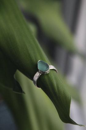 Chunky Seafoam Seaglass Ring