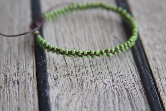 Light Green Seed Bead Bracelet