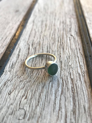 Green Sterling Silver Ring