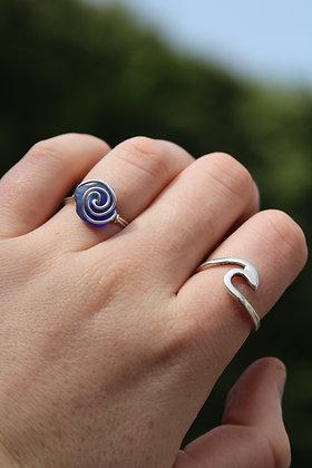 Cobalt Spiral Ring
