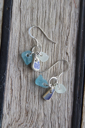 Turquoise Challaborough Cluster Earrings
