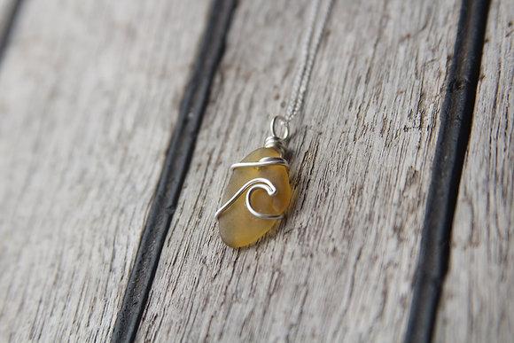 Orange Brown Signature Wave Necklace