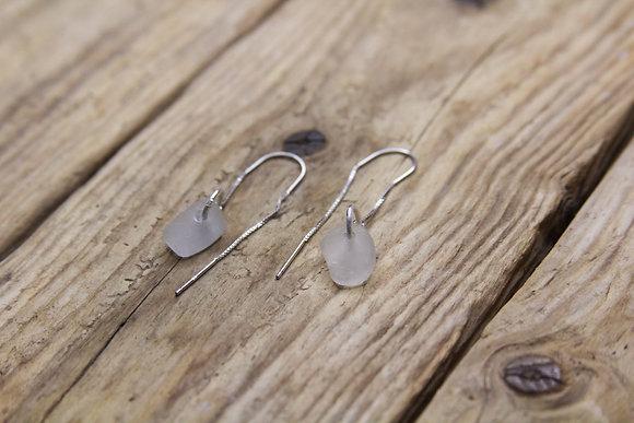 Clear Thread Through Earrings
