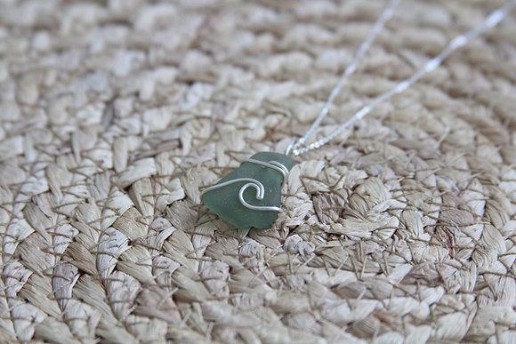 Light Green Signature Wave Necklace