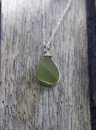 Olive Green Wrap Necklace