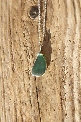 Dark Seafoam Wrap Necklace