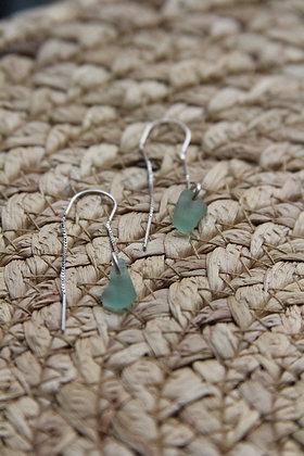 Light Seafoam Thread Through Earrings