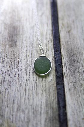 Deep Green Wrap Necklace
