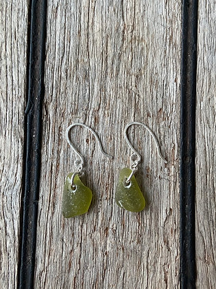 Olive Green Simple Earrings