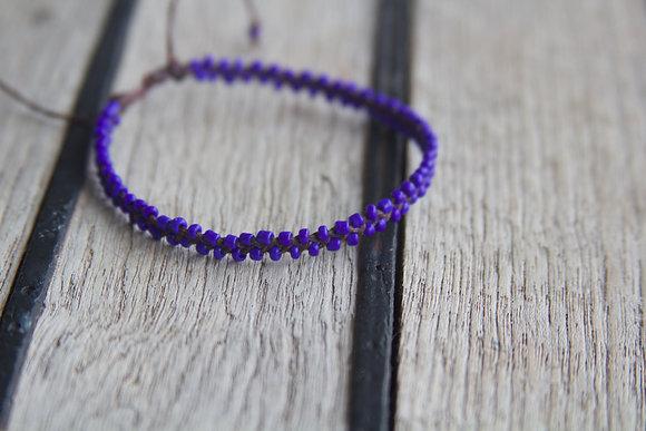 Dark Blue Seed Bead Bracelet