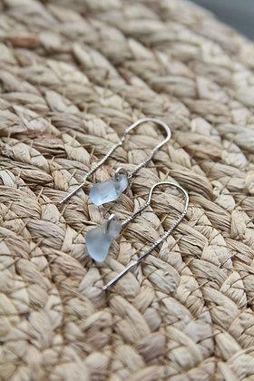 Maya Blue Thread Through Earrings
