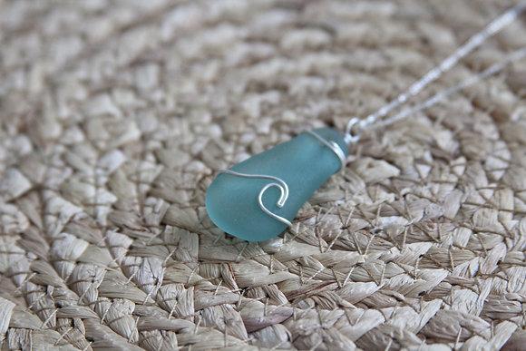 Large Seafoam Signature Wave Necklace