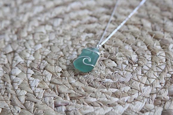 Light Seafoam Signature Wave Necklace