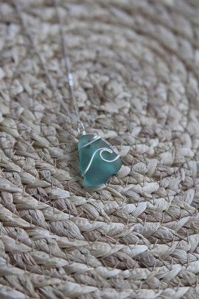 Ocean Green Signature Wave Necklace