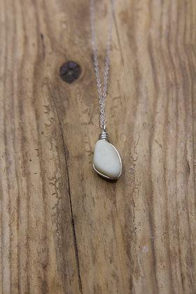 UV Milk Sea Glass Wrap Necklace