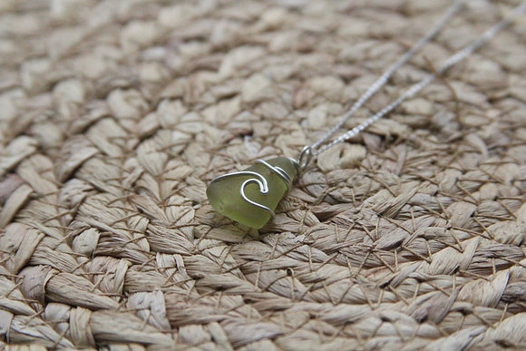 Lime Green Signature Wave Necklace