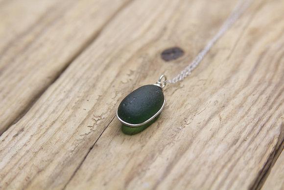 Dark Green Wrap Necklace