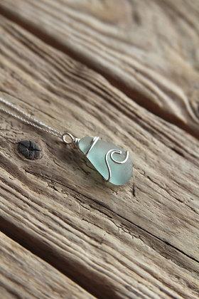 Teal Signature Wave Necklace