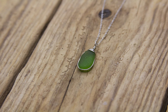 Bright Green Wrap Necklace
