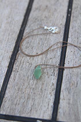 Soft Green Silk Thread Necklace