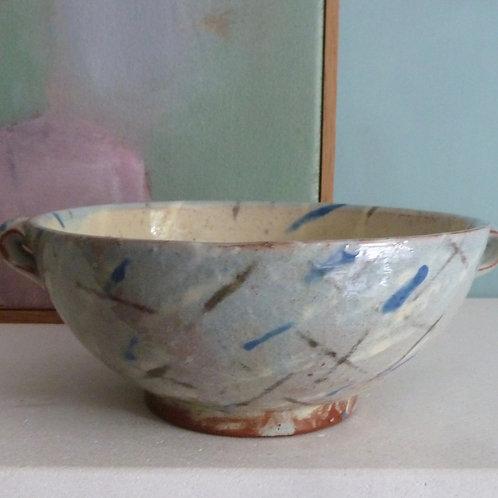 Lugged bowl - blue