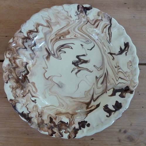 Brown marbled plate