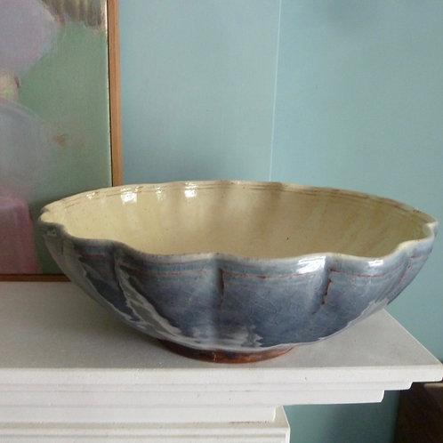 Blue Scalloped bowl