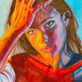 1B_Colourful Illumination_coloured pencil_16x20