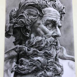 35A_sculpture study_charcoal_14x16