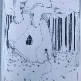 25A_Home is Wher the Heart is_ink pens_8x11