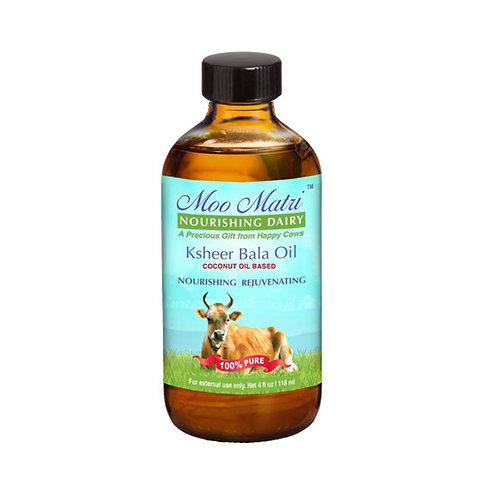 Moo Matri Ksheer Bala Ayurvedic Massage Oil (Coconut Oil Base) 4 oz bottle