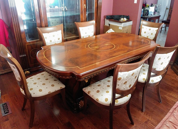 Made in Italy Dining Room Table + 6 Chairs