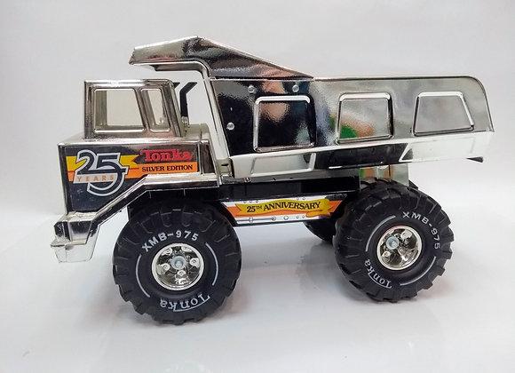 Vintage 1990 Mighty Tonka Dump Truck SILVER EDITION 25th Anniversary
