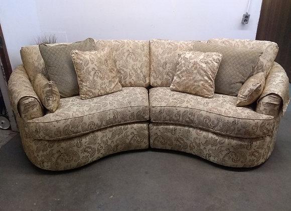Custom Upholstered Bean Shaped Sofa