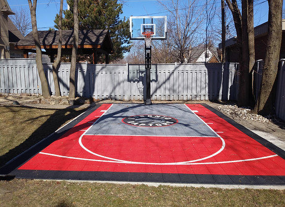 Toronto Raptors Custom Backyard Basketball Court