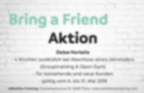 bring a friend aktion - fitness thun