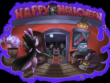 31st of October - Happy Halloween! Hello Cubeat!