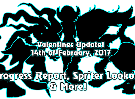 14th of Feb, 2017 - Happy Valentines! Progress, Update, Spriters