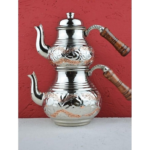 10 x TURKISH COPPER TEAPOT WITH WOODEN HANDLE