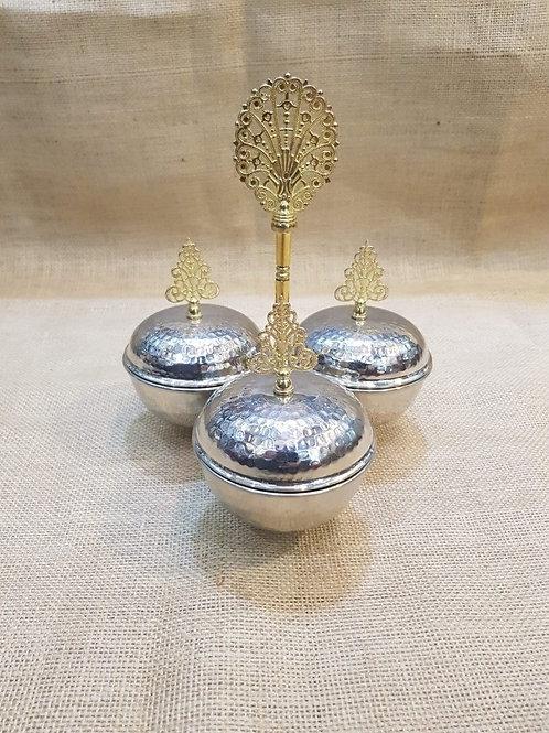 10 x TURKISH COPPER SPICE SET OF THREE