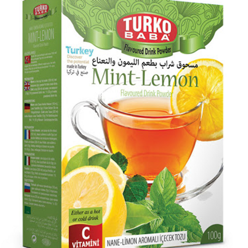 100 x MINT AND LEMON FLAVOURED DRINK POWDER , 100 GR T289