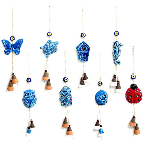 100x ASSORTED CERAMIC WALL HANGING