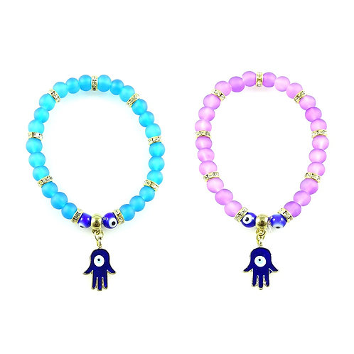 100x ASSORTED EVIL EYE BRACELET