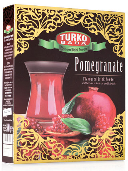 24 x POMEGRANATE  FLAVOURED DRINK POWDER GILDED BOX , 300 GR T263